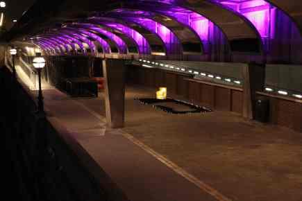 Work in situ on the North Bank of the Thames, near Blackfriars Bridge